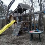 My brothers swing set
